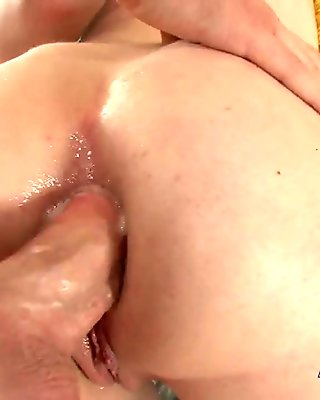 Brunettes pantyhose ripped up for nasty hard doggy style sex