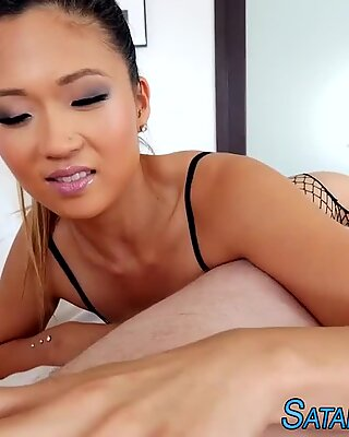 Fetish asian swallows cum