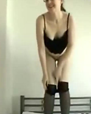 Cute Wife Wearing Pantyhose Stripping