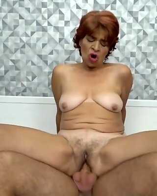Granny loves to fuck firm with a huge hard cock
