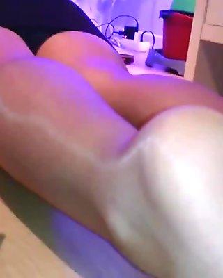 Candid Xmas Nylon Pantyhose Legs & Feet pt 2