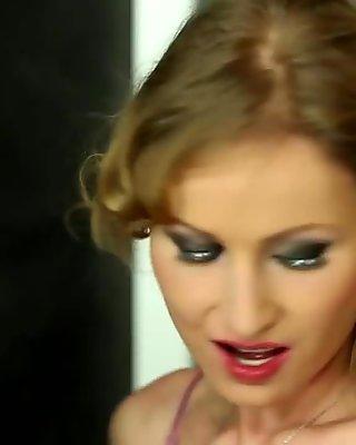 Bukkakke covered euro lesbos pleasuring pussy