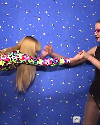 Two girls fetish scene