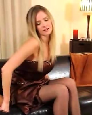 Black pantyhose and ultra hot pants movie 2