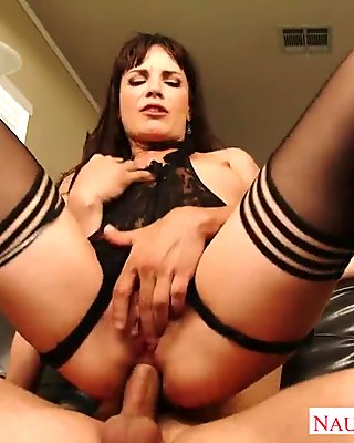 Small breasted brunette Dana DeArmond jump anally cock