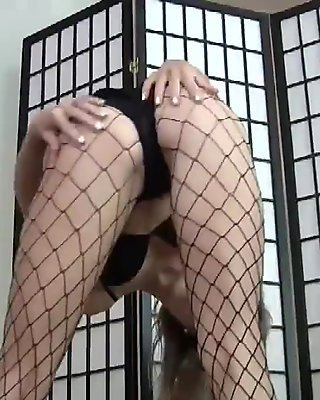 My fishnets will make you nice and hard JOI