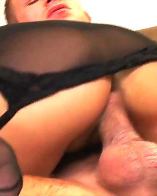 Cum On Her Pantyhose