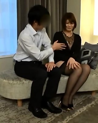 Asian Office lady with pair of sexy leg