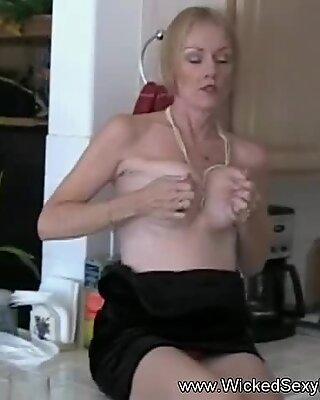 Granny Amateur Teasing Her Stepson Online