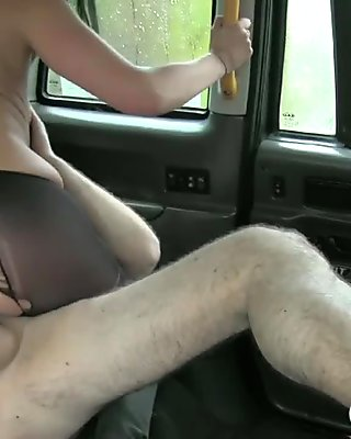 Skanky local escort fucked and facialed by nasty cab driver