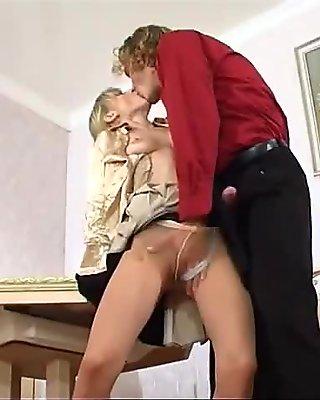 Skinny Leah - Pantyhose tease and fuck