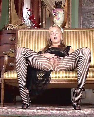 Pantyhosed4u Aston Wilde - A Pantyhose Stripe Tease