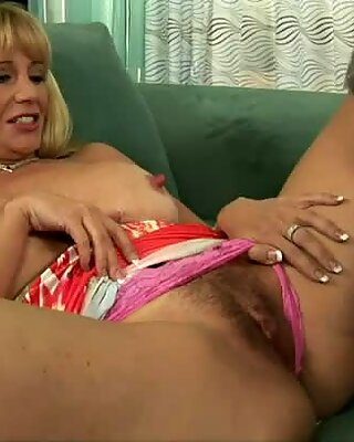Horny dude loves to taste hairy cunt of blonde cougar Olivia Parrish