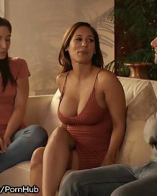 Abella Danger Watches her MILF Crush Fuck a Guy!