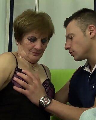 Hairy grandmas first porno shooting
