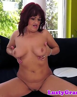 Busty grandpa pounded by big dick