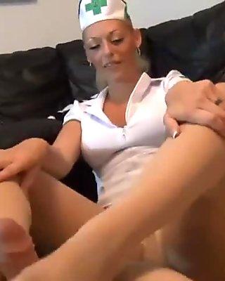 Two Girls nylon footjob