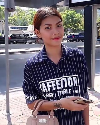 Hot petite Asian stuffed by a large cock