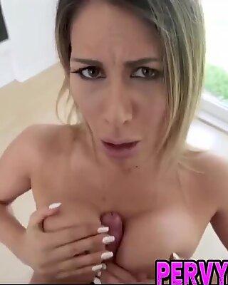 Horny milf pov titfucks