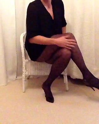 My legs in  pantyhose