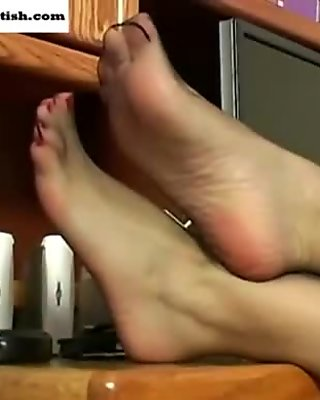Gigi Feet in Nylon Tease
