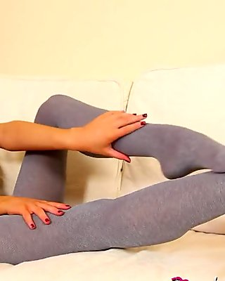 layla grey pantyhose tease