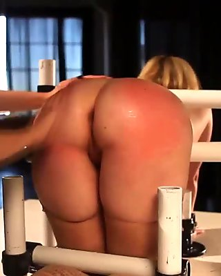 Domina spanks subs booty