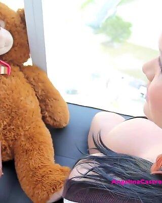 fat boobed Angelina Castro Has sex with Teddy Bear?!