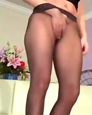 Outstanding hairy pink cunt view