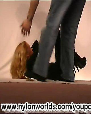 Marlena in fullbody nylon (clip)