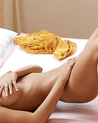 She Explores Body Through Pantyhoses