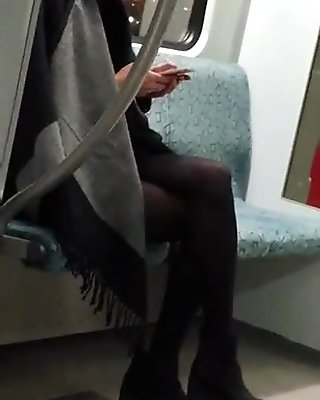 Hot Asian Girl On The Train