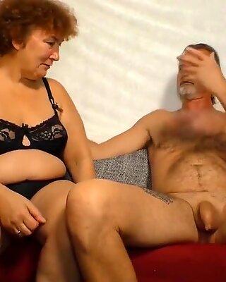 LETSDOEIT - Curly Headed German Granny Takes a Big Load