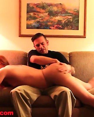 Torn Pantyhose Ass Punishment - Cheyenne Jewel