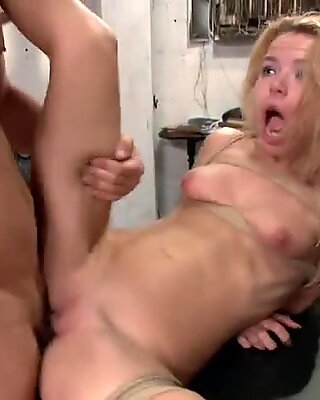 Filling her tight wet pussy with fat cock