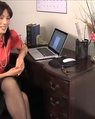 Cumshot On My Teacher Her Black Stockings