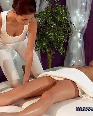 Massage Rooms Sweet young lesbians have intense orgasms together