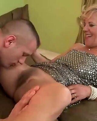 Young man fucking hot hairy granny hard