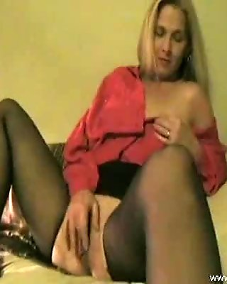 Amateur Masturbating in Crotchless Pantyhose - Part 1