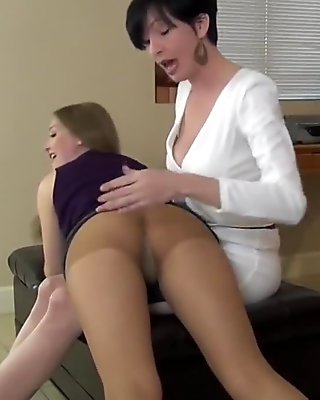 Star gets a Spanking on her Pantyhose