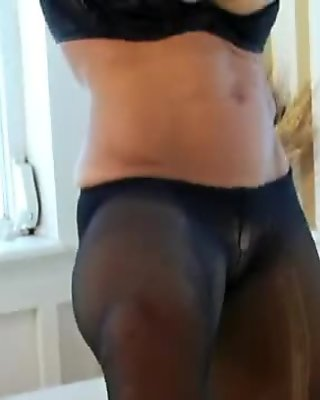 Denise Masino Tub Black Pantyhose - FBB
