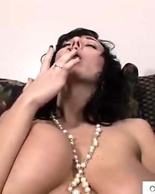 Bigtit Alia Janine pantyhose play