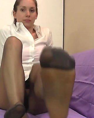 Lelu Love-Pantyhose Feet Worship Spitting