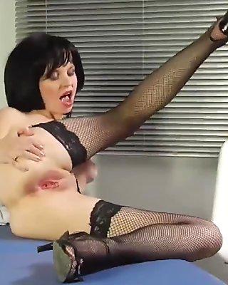 Horny nurse gives the big cocked docotor a blowjob