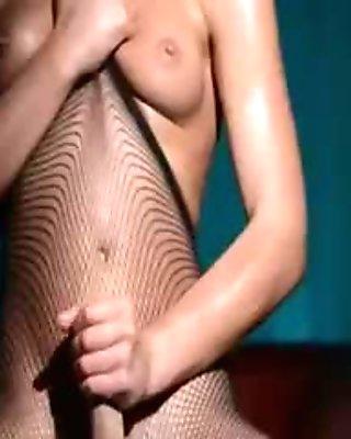 Luxury babe undress in pantyhose