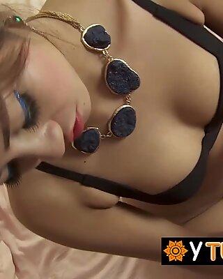 Thai goddess feels so much pleasure sucking a white fat dick