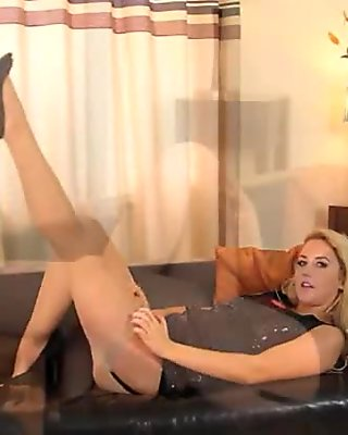 Hot lesbs in pantyhose again in action clip 2