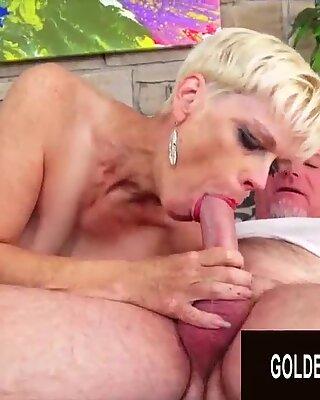 Golden Slut - Older Ladies Show off Their Cock Sucking Skills Compilation 5