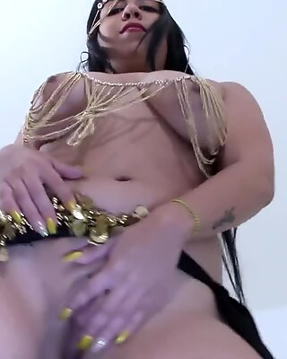 Nude Belly Dance All Natural and Erotic with Heavy Hanging Tits