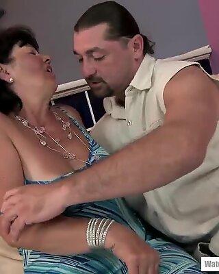 Titty fucked at age 65 - Helena May